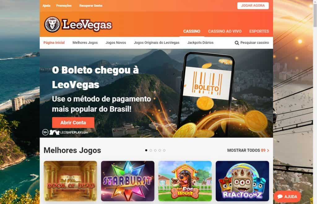 Homepage Leo Vegas