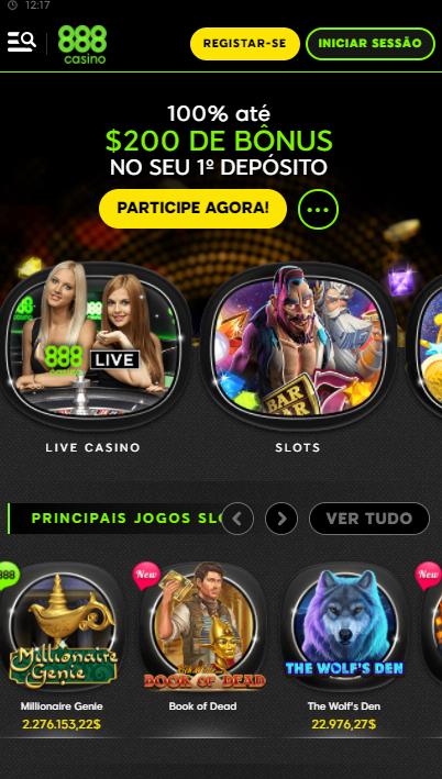 aplicativo da 888casino para celular para Android E iPhone