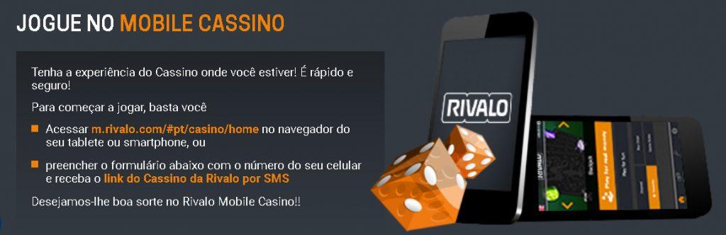 aplicativo da Rivalo para celular para Android E iPhone